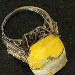 NWT Bumble bee & Brazilian citrine ring